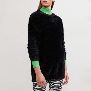 NWT Maje black faux fur oversize sweater
